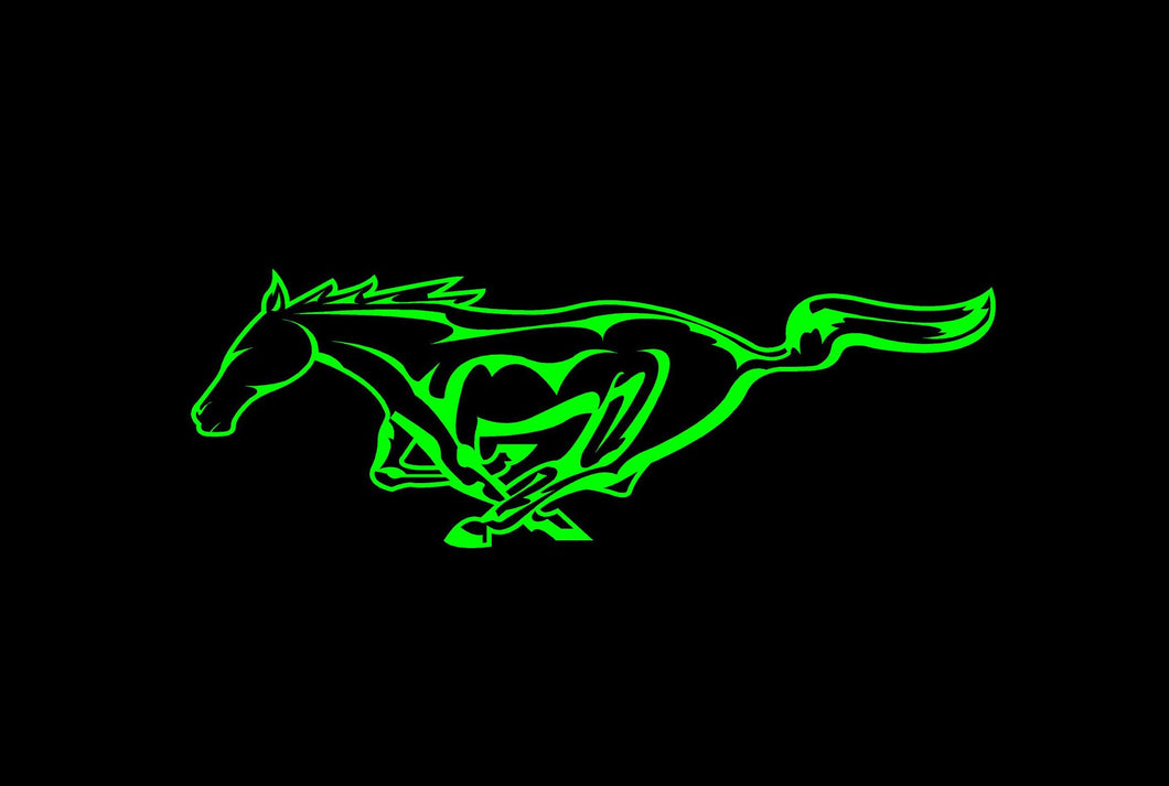 mustang horse decal custom car window sticker