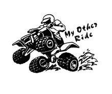 Load image into Gallery viewer, Quad Four Wheeler decal custom vinyl car truck window sticker