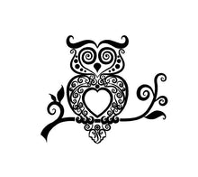 Load image into Gallery viewer, Intricate Owl Decal Custom Vinyl car truck window sticker