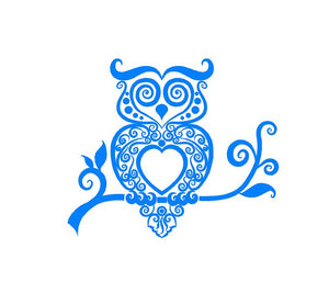 Intricate Owl Decal Custom Vinyl car truck window sticker