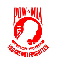 Load image into Gallery viewer, POW MIA custom vinyl decal