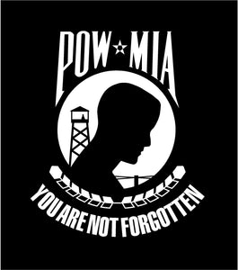 POW MIA You are not forgotten car decal