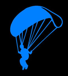 Parachute Sky Diving Decal car truck window laptop Skydivers sticker