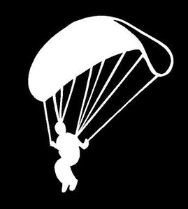 skydiver decal sky diving car truck window parachute sticker