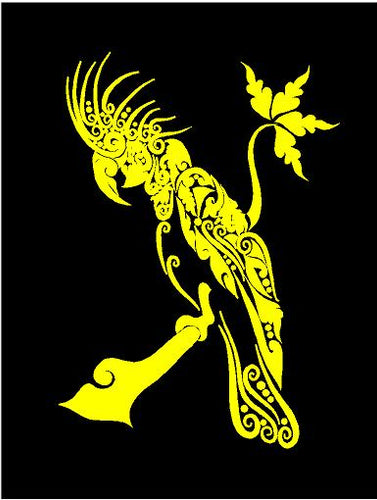 intricate parrot decal car truck window bird sticker