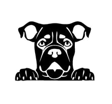 Load image into Gallery viewer, Peeking Boxer Decal Custom Vinyl car truck window Dog sticker
