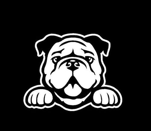 peeking bulldog decal car truck window dog lovers sticker