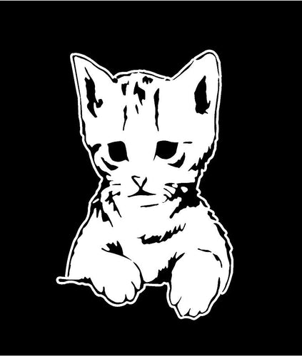 peeking kitten decal car truck windos cat sticker