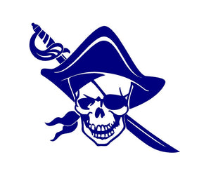 Pirate decal Custom Vinyl car truck window bumper sticker
