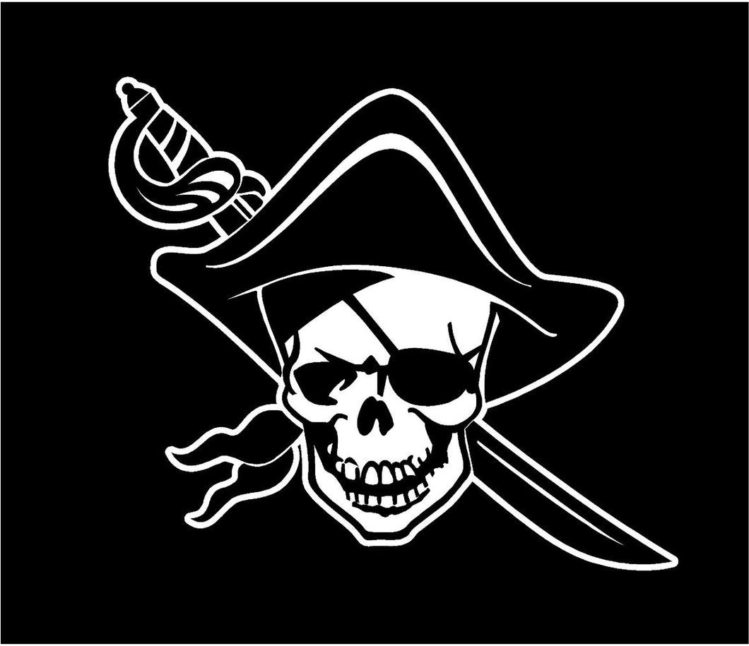 pirate decal car truck window bumper sticker