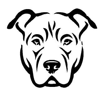 pitbull line art decal custom vinyl car truck window sticker