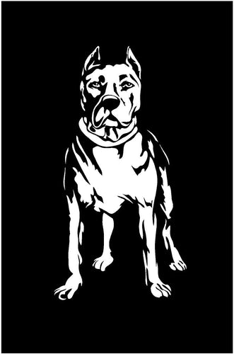 Pit bull dog decal car truck window dog lovers sticker