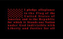 Load image into Gallery viewer, Pledge of allegiance flag vinyl decal