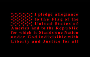 Pledge of allegiance flag vinyl decal