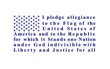 Load image into Gallery viewer, Pledge of Allegiance Flag  Truck Car decal