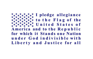 Pledge of Allegiance Flag  Truck Car decal