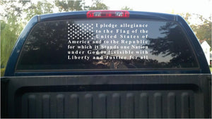 Pledge of allegiance truck car window sticker
