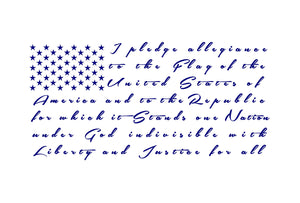 Pledge of Allegiance Flag car truck decal