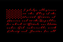 Load image into Gallery viewer, Pledge of allegiance Flag Decal car truck window sticker