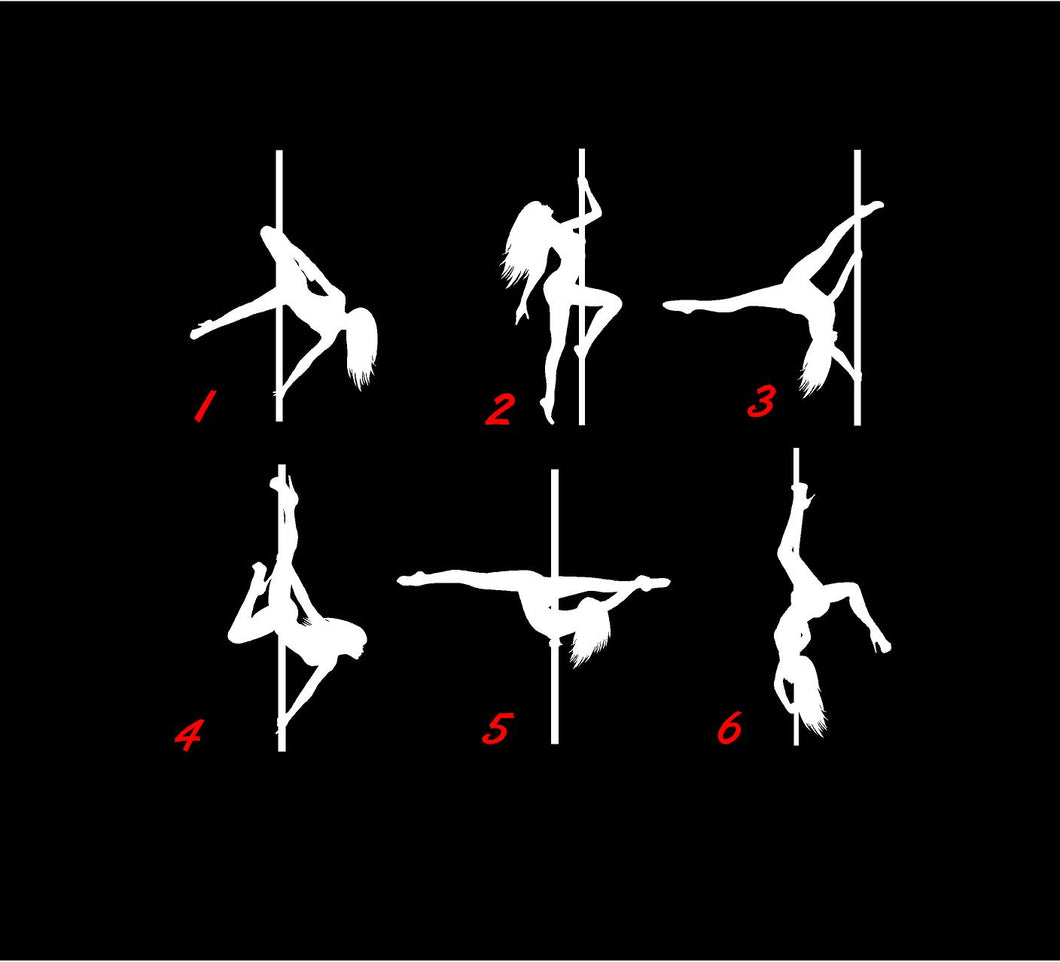 pole dancer decals car truck window stickers