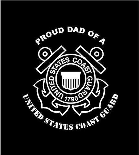 USCG Proud dad decal