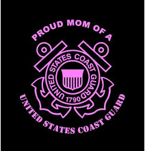 Load image into Gallery viewer, USCG proud mom decal