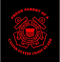 Load image into Gallery viewer, USCG proud parent decal