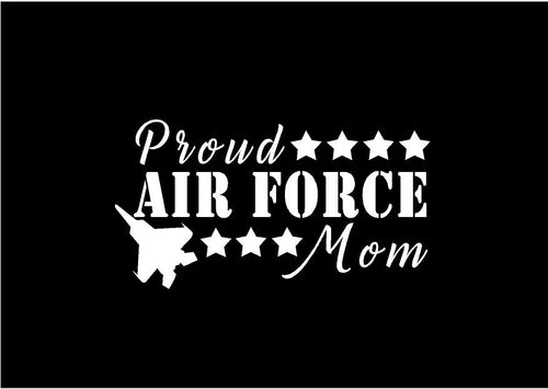 proud airforce mom dad decal car truck window military sticker