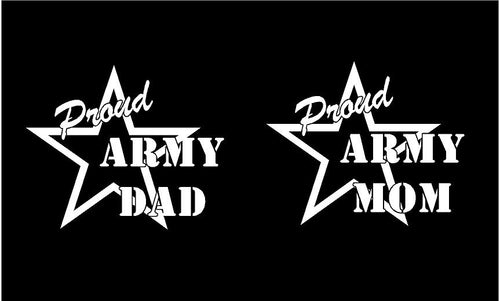 proud army mom dad decal car truck window military sticker