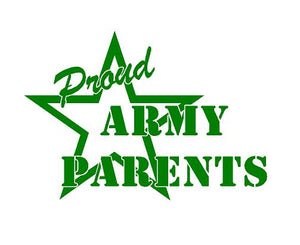 Proud Parent US Army Soldier Decal Custom Vinyl car truck window sticker