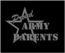 Load image into Gallery viewer, Proud Parent US Army Soldier Decal Custom Vinyl car truck window sticker