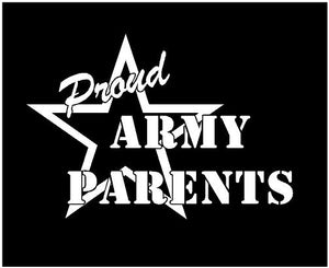 proud army parent military decal car truck window sticker