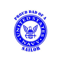 Load image into Gallery viewer, Proud Mom Dad Parent of a Navy Sailor decal Custom Vinyl car truck window Sticker