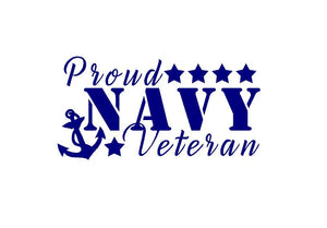 Proud US Navy Sailor Veteran Decal Custom Vinyl car truck window sticker