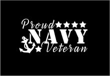 Load image into Gallery viewer, proud navy veteran decal car truck window military sticker