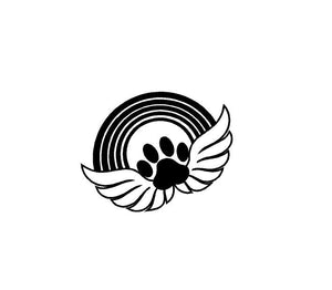 Pet Memorial decal Rainbow Bridge Puppy Angel Paw Print Custom Vinyl car truck window laptop sticker