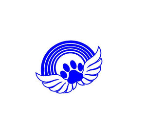 pet memorial paw print angel wings rainbow bridge decal sticker