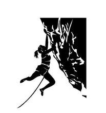 Load image into Gallery viewer, Rock Climbing Girl Decal Custom Vinyl car truck window sticker