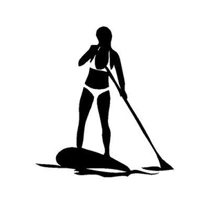 SUP Girl Decal Custom Vinyl car truck window Stand Up Paddle Board sticker