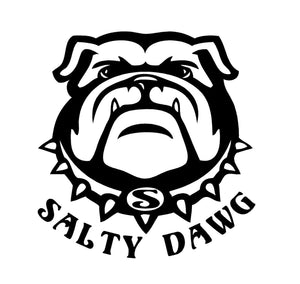 Salty Dog Bull Dog Decal Custom Vinyl Car window sticker