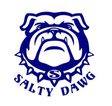 Load image into Gallery viewer, Salty Dog Bull Dog Decal Custom Vinyl Car window sticker