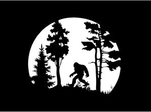 sasquatch car window decal