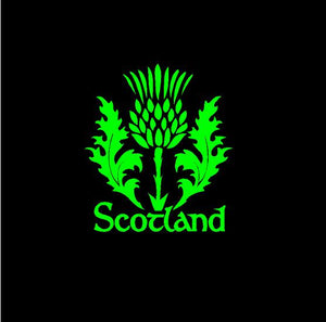 Scotland Thistle Decal Custom Celtic Heritage Vinyl Car Truck Window sticker