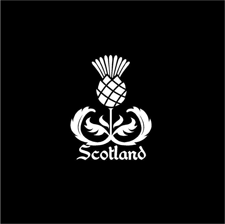 scotland thistle decal car truck window scottish sticker