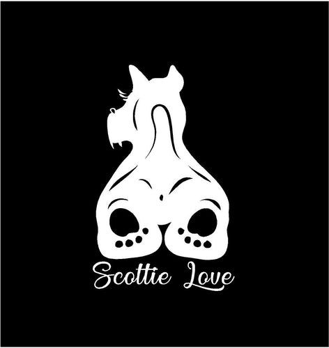 scottie love decal scottish terrier dog car truck window sticker