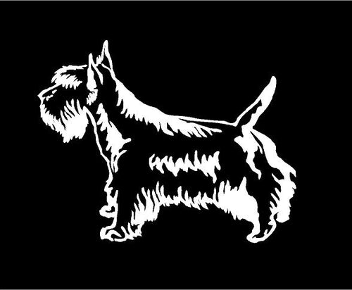 scottish terrier dog decal car truck window scottie sticker