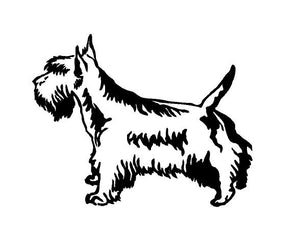 Scottie Dog Decal Custom Vinyl car truck window Scottish Terrier sticker