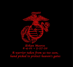 Ethan Moores USMC EGA memorial decal