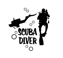 Load image into Gallery viewer, scuba diver decal