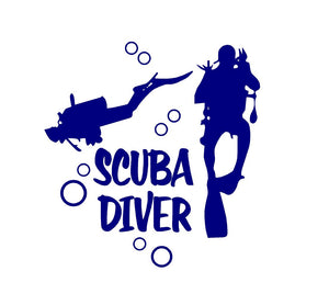 scuba diver car sticker